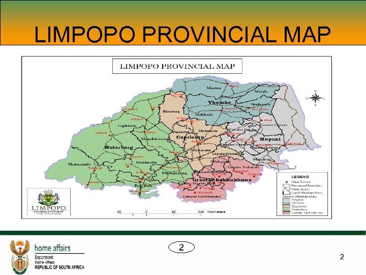 LIMPOPO PROVINCIAL MAP 2 2