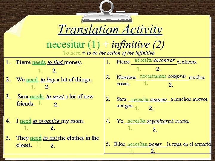 Yo Necesito Dinero Translation