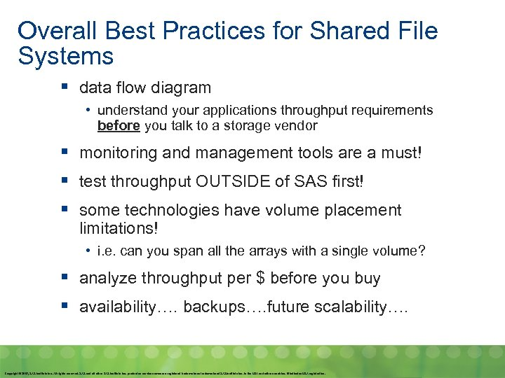 Overall Best Practices for Shared File Systems § data flow diagram • understand your