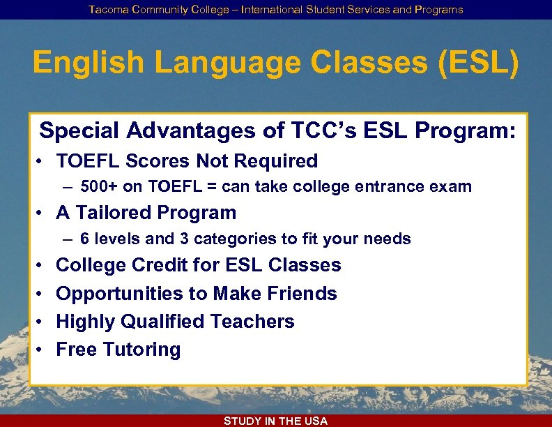 International Student Services and