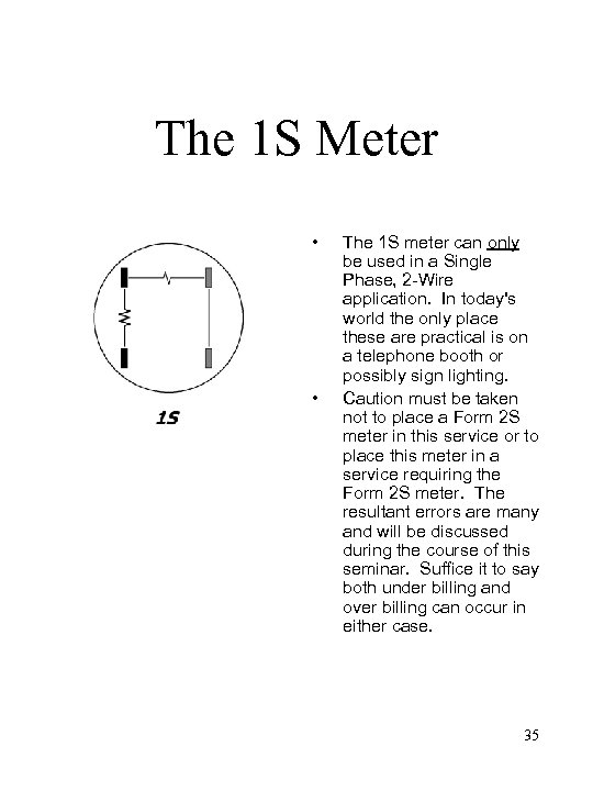 The 1 S Meter • • The 1 S meter can only be used