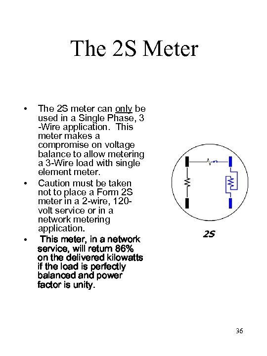 The 2 S Meter • • • The 2 S meter can only be