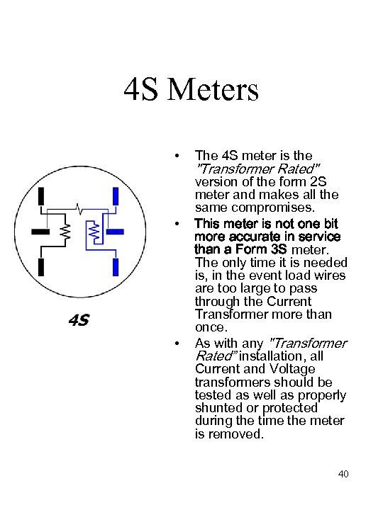 4 S Meters • • • The 4 S meter is the