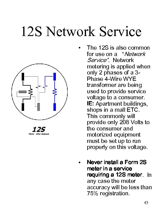 12 S Network Service • The 12 S is also common for use on