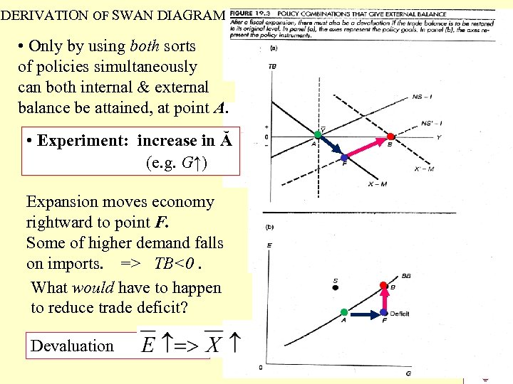 DERIVATION OF SWAN DIAGRAM • Only by using both sorts of policies simultaneously can