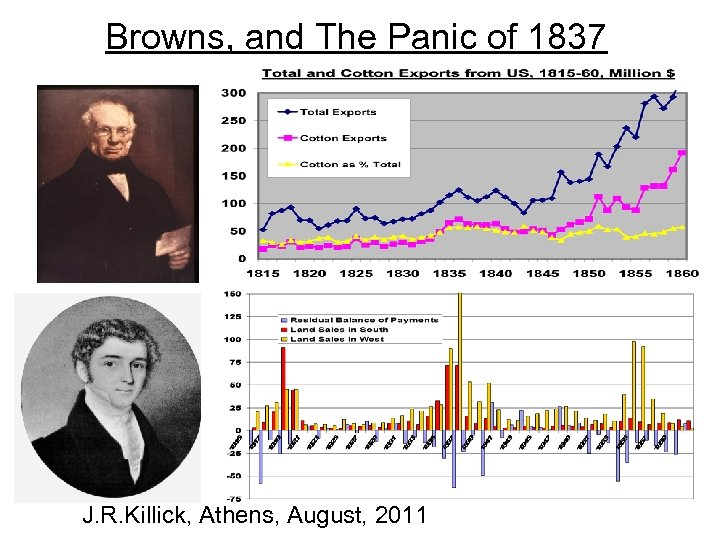 Browns, and The Panic of 1837 J. R. Killick, Athens, August, 2011