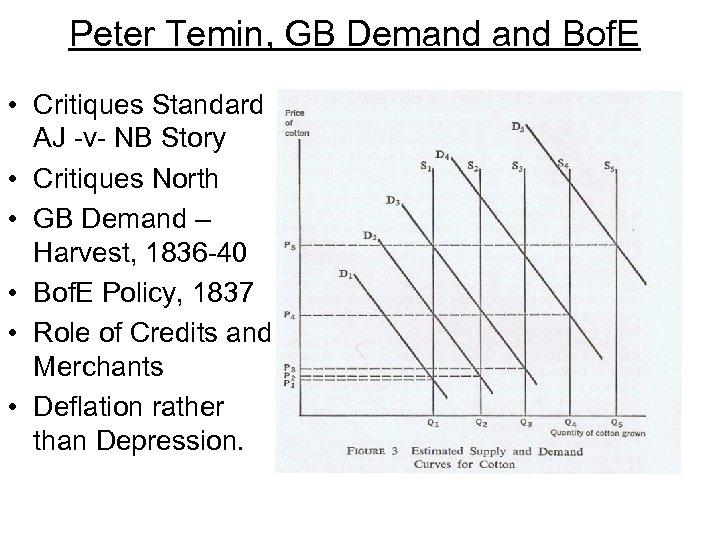 Peter Temin, GB Demand Bof. E • Critiques Standard AJ -v- NB Story •
