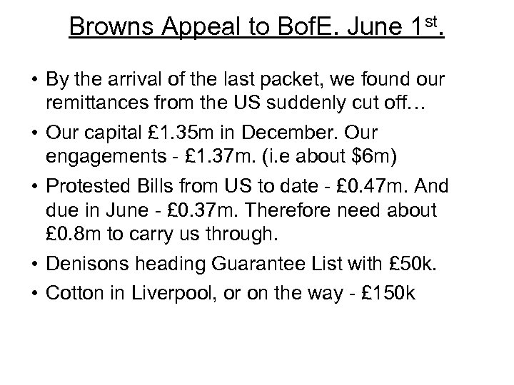 Browns Appeal to Bof. E. June 1 st. • By the arrival of the