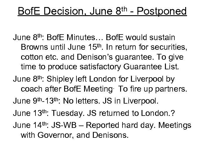 Bof. E Decision, June 8 th - Postponed June 8 th: Bof. E Minutes…