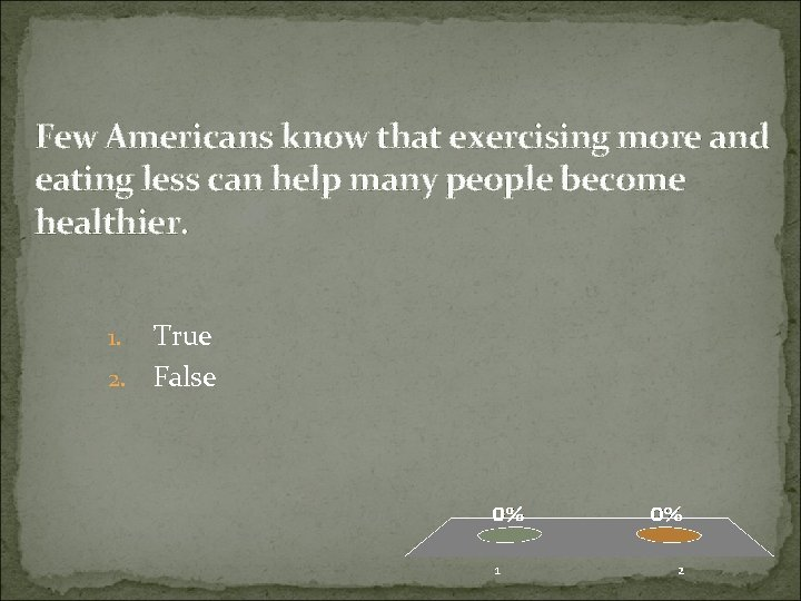 Few Americans know that exercising more and eating less can help many people become