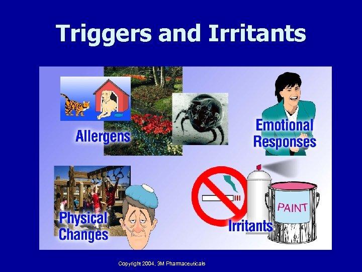 Triggers and Irritants Copyright 2004, 3 M Pharmaceuticals