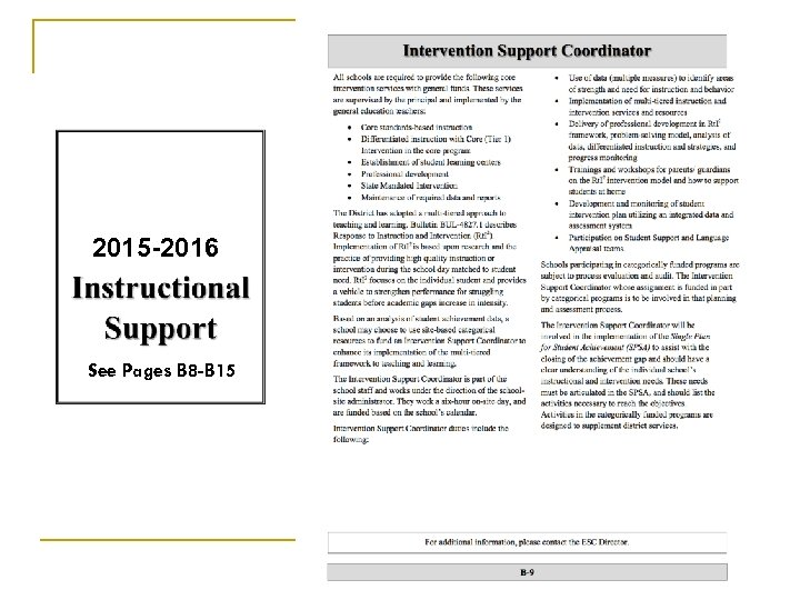 2015 -2016 See Pages B 8 -B 15 65