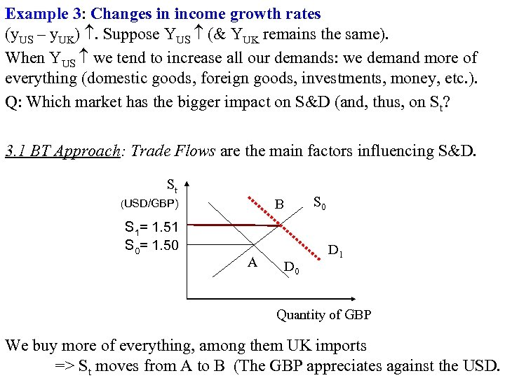 Example 3: Changes in income growth rates (y. US – y. UK) . Suppose