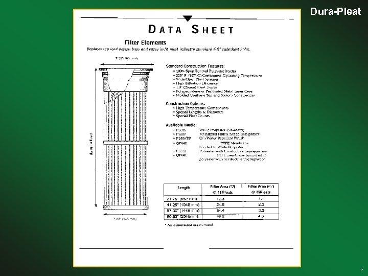 Dura-Pleat Clean air solutions >