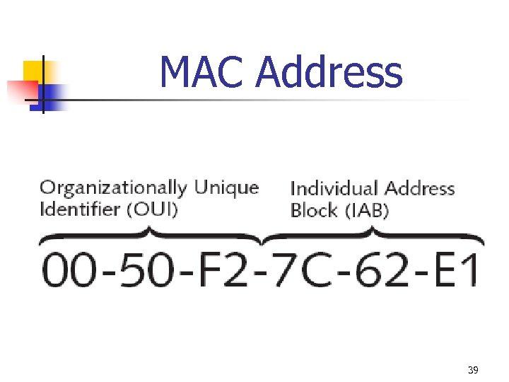 MAC Address 39