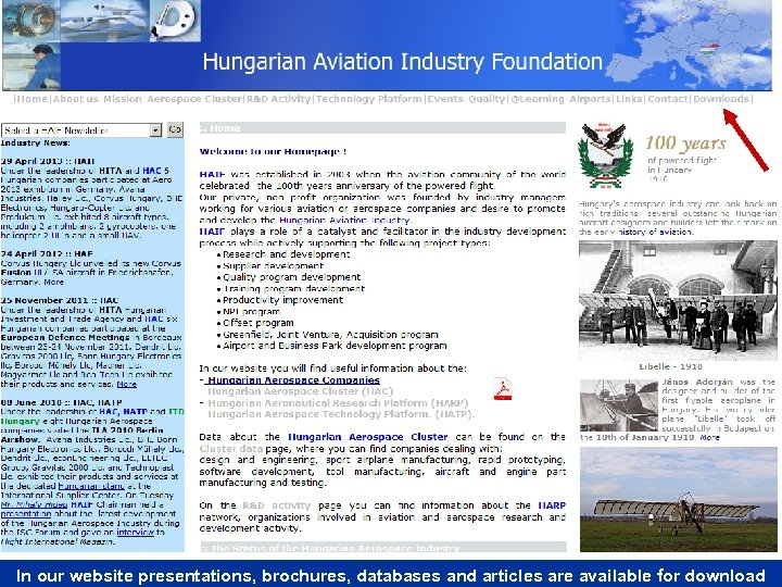 In our website presentations, brochures, databases and articles are available for download
