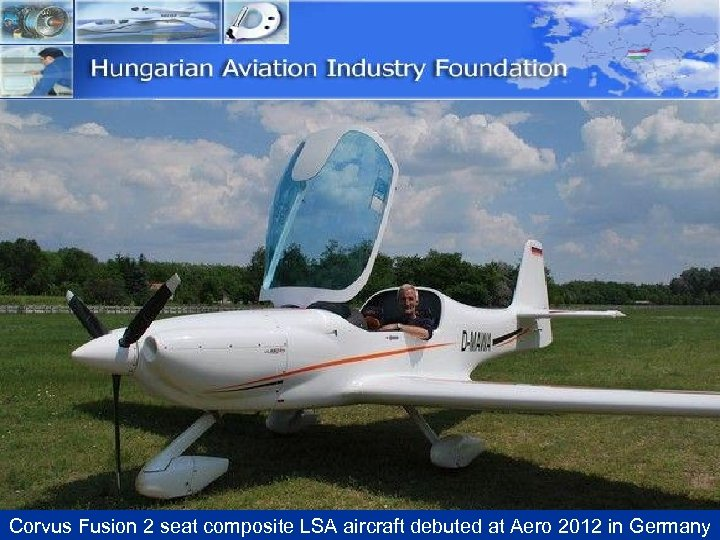 Corvus Fusion 2 seat composite LSA aircraft debuted at Aero 2012 in Germany