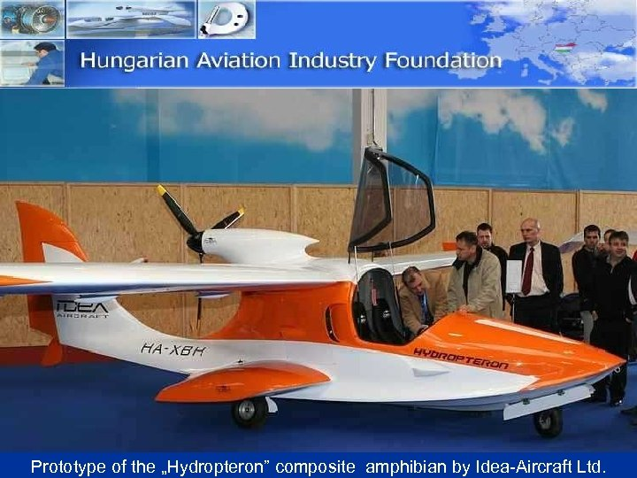 "Prototype of the ""Hydropteron"" composite amphibian by Idea-Aircraft Ltd."