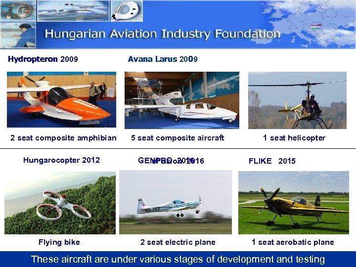 Hydropteron 2009 2 seat composite amphibian Hungarocopter 2012 Flying bike Avana Larus 2009 5
