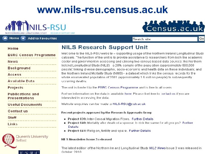 www. nils-rsu. census. ac. uk