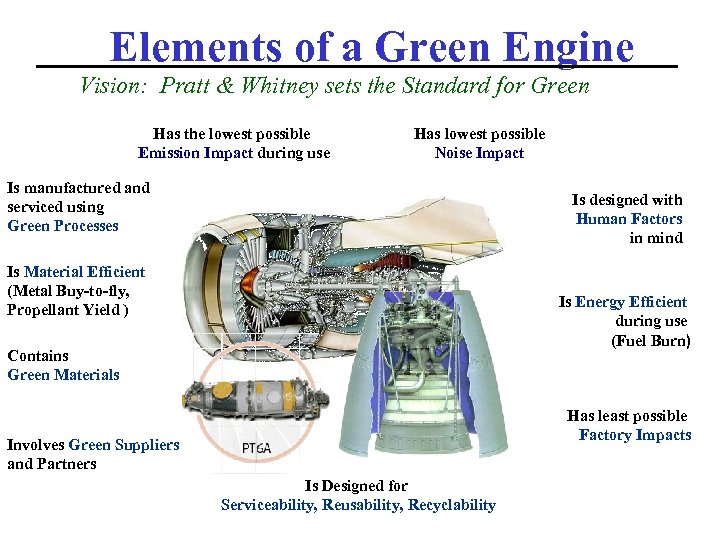 Elements of a Green Engine Vision: Pratt & Whitney sets the Standard for Green