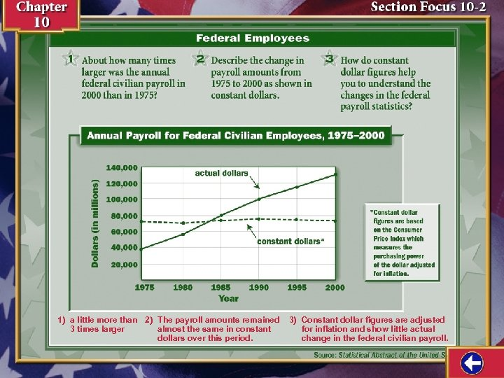 1) a little more than 2) The payroll amounts remained 3 times larger almost