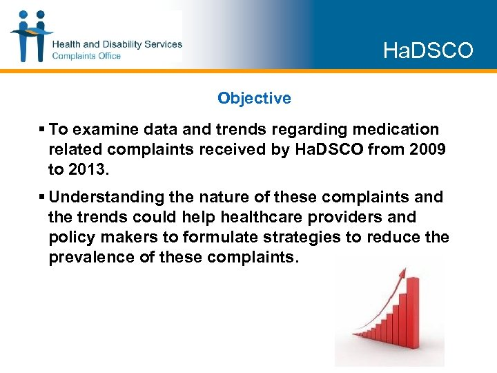 Ha. DSCO Objective § To examine data and trends regarding medication related complaints received