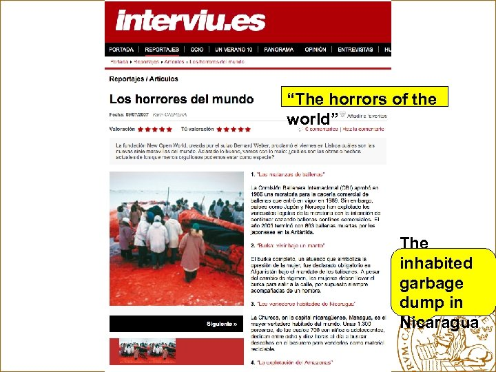 """""""The horrors of the world"""" The inhabited garbage dump in Nicaragua"""