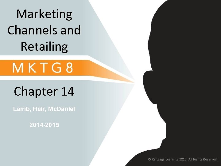 Marketing Channels and Retailing Chapter 14 Lamb, Hair, Mc. Daniel 2014 -2015 © Cengage