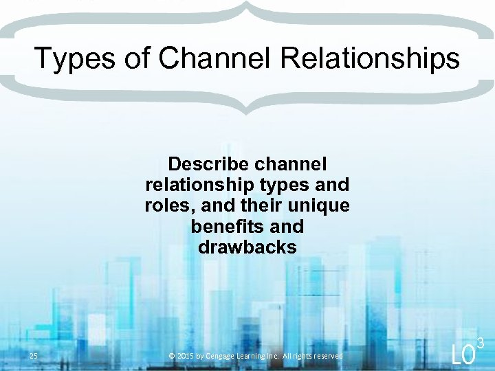 Types of Channel Relationships Describe channel relationship types and roles, and their unique benefits