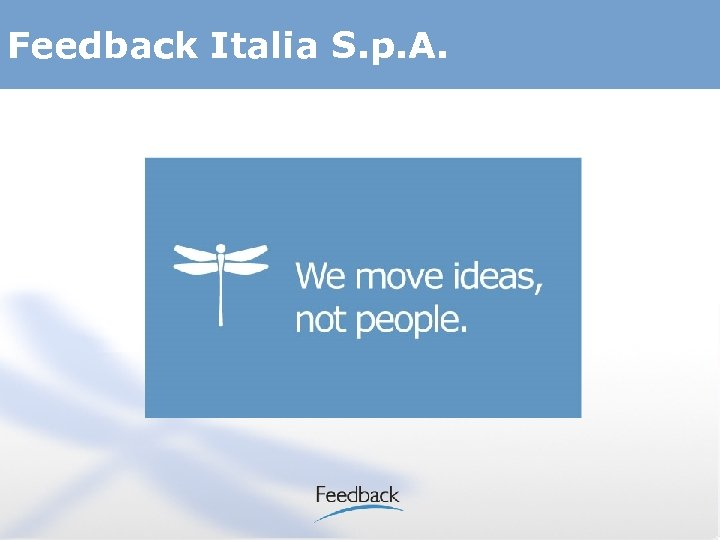 Feedback Italia S. p. A.