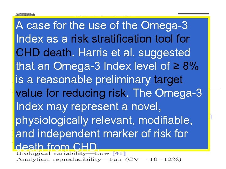 A case for the use of the Omega-3 Index as a risk stratification tool