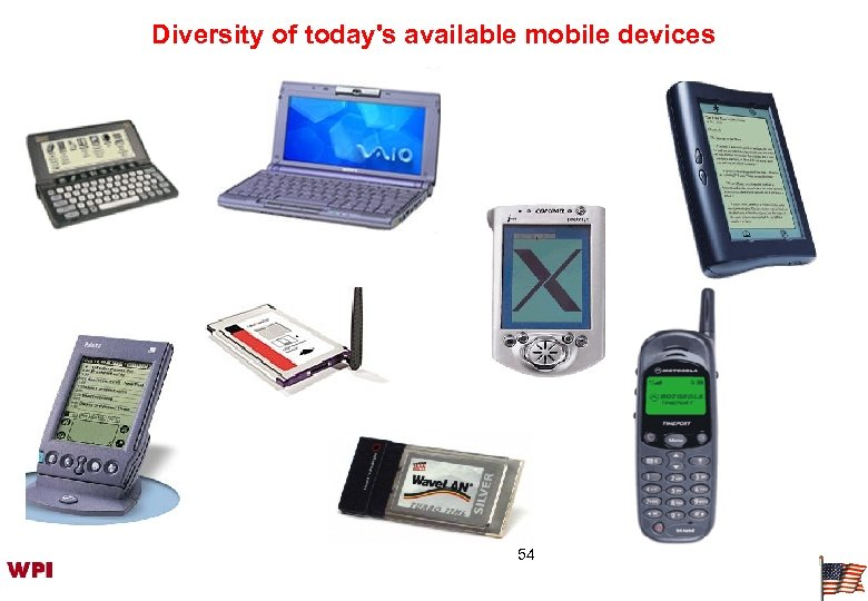 Diversity of today's available mobile devices 54