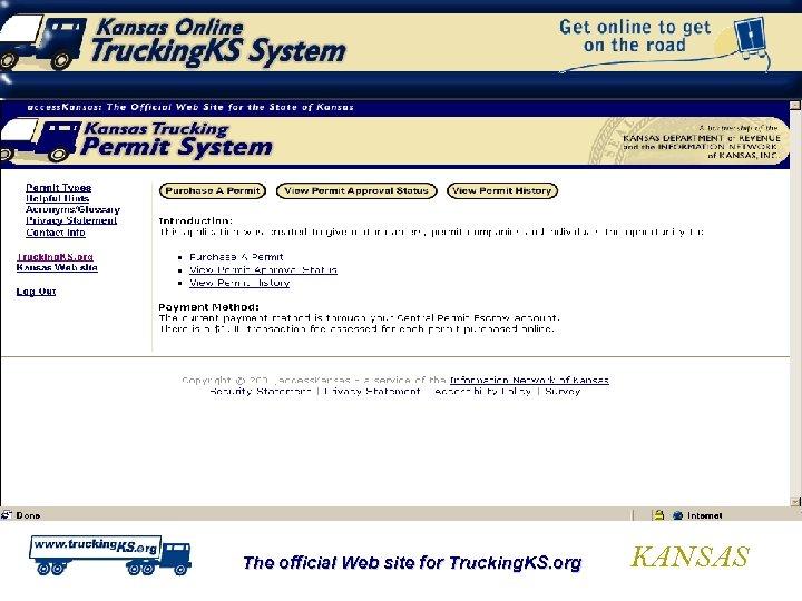 The official Web site for Trucking. KS. org KANSAS