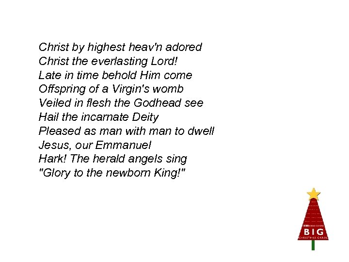 Christ by highest heav'n adored Christ the everlasting Lord! Late in time behold Him