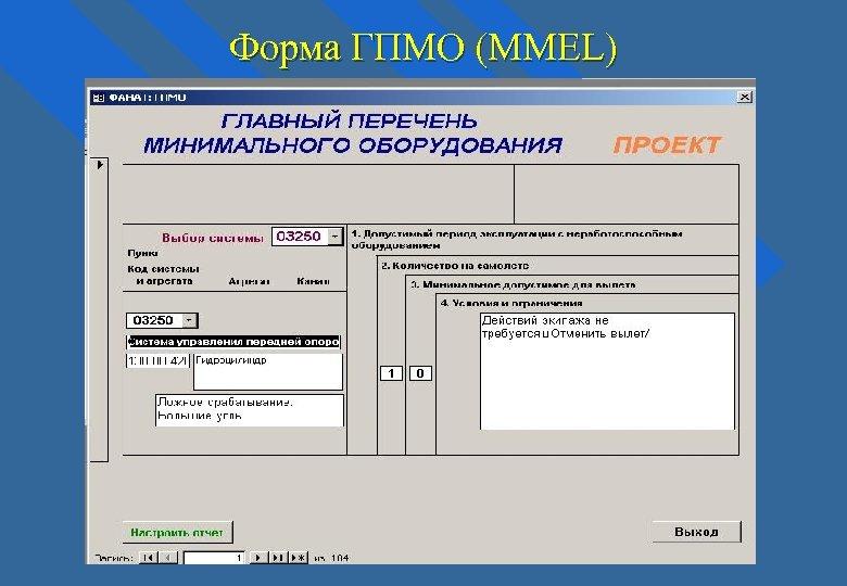 Форма ГПМО (MMEL)