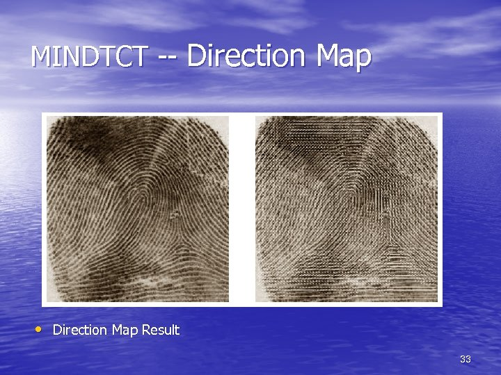 MINDTCT -- Direction Map • Direction Map Result 33