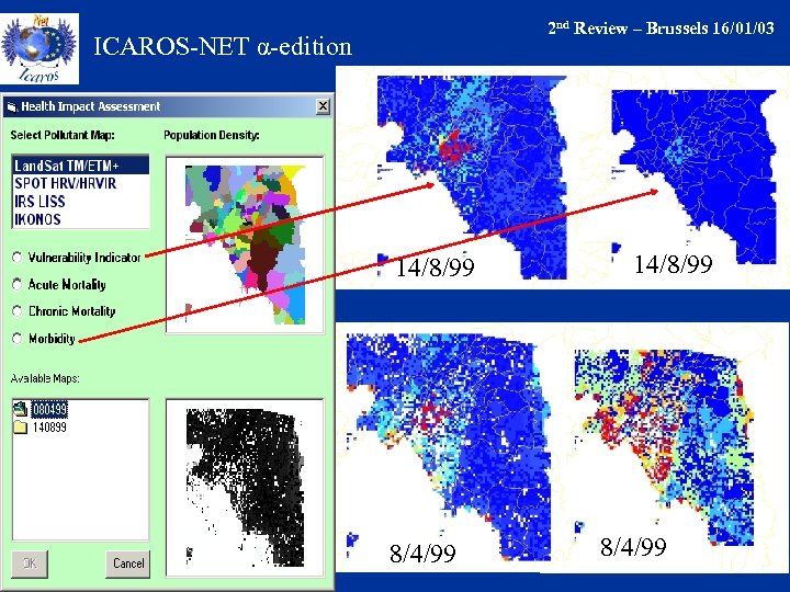 2 nd Review – Brussels 16/01/03 ICAROS-NET α-edition 14/8/99 8/4/99