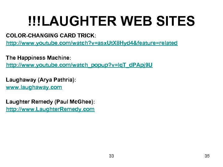 !!!LAUGHTER WEB SITES COLOR-CHANGING CARD TRICK: http: //www. youtube. com/watch? v=asx. Ut. X 8