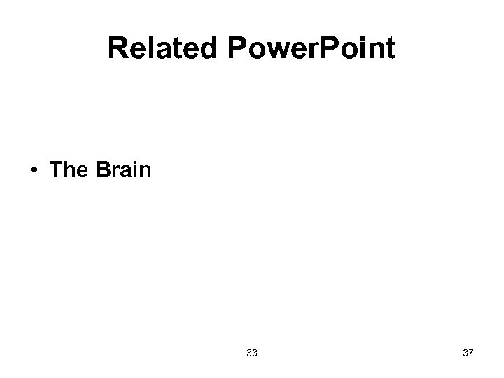 Related Power. Point • The Brain 33 37