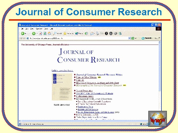 Journal of Consumer Research 32