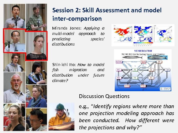 Session 2: Skill Assessment and model inter-comparison Miranda Jones: Applying a multi-model approach to