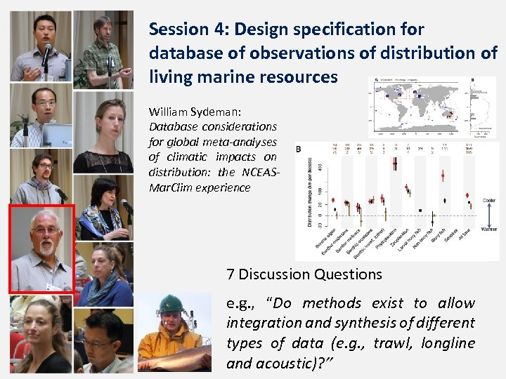 Session 4: Design specification for database of observations of distribution of living marine resources