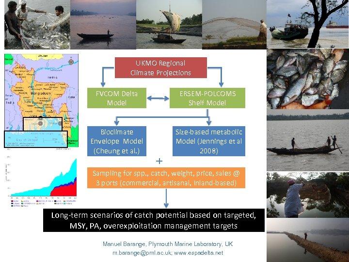 UKMO Regional Climate Projections FVCOM Delta Model ERSEM-POLCOMS Shelf Model Bioclimate Envelope Model (Cheung