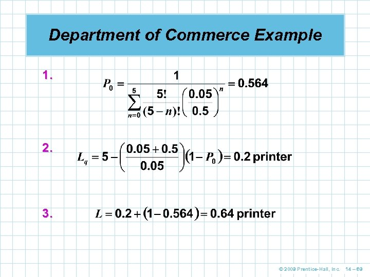 Department of Commerce Example 1. 2. 3. © 2009 Prentice-Hall, Inc. 14 – 69