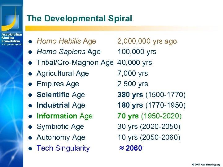 The Developmental Spiral Acceleration Studies Foundation A 501(c)(3) Nonprofit l l l Los Angeles