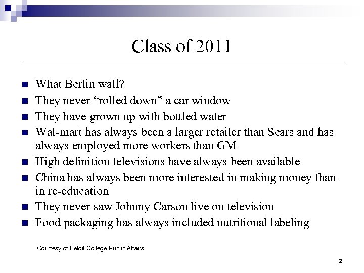 "Class of 2011 n n n n What Berlin wall? They never ""rolled down"""