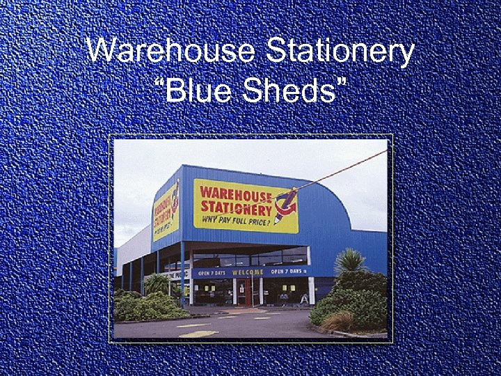 "Warehouse Stationery ""Blue Sheds"""