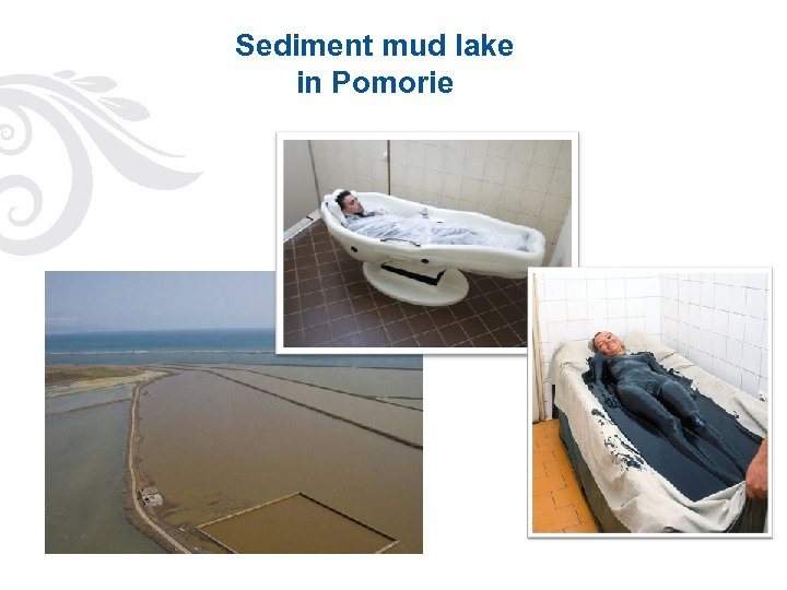 Sediment mud lake in Pomorie