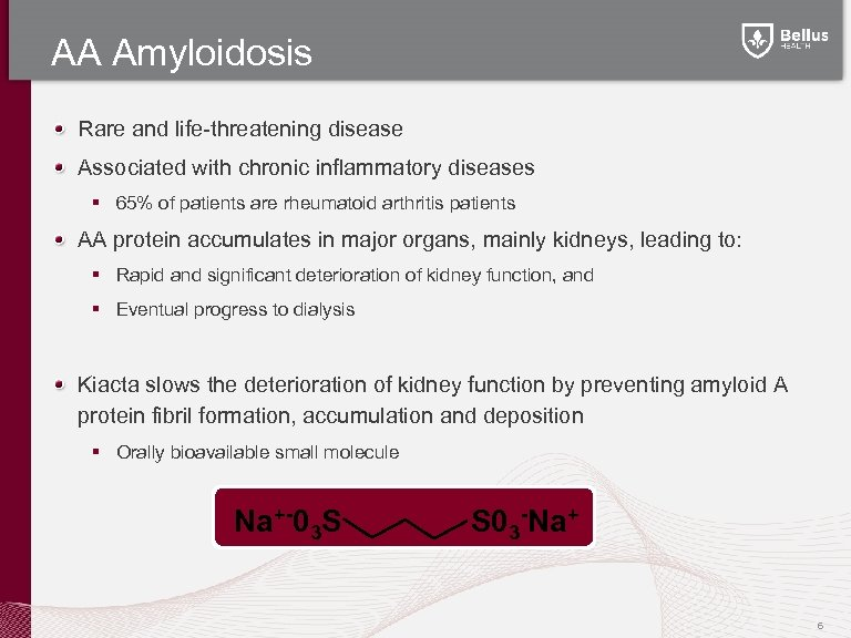 AA Amyloidosis Rare and life-threatening disease Associated with chronic inflammatory diseases § 65% of